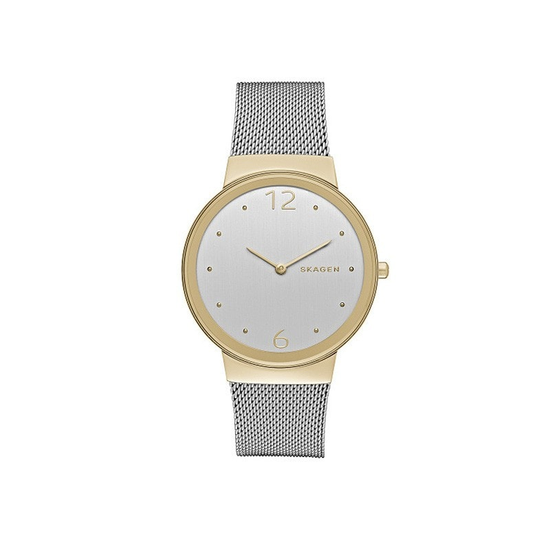Skagen Ladies' Freja Steel / Gold Mesh Watch