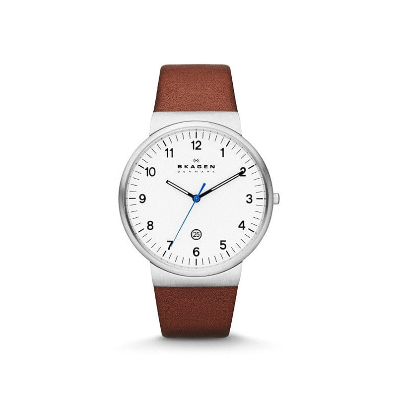 Skagen Men's Ancher Relaxed Leather Watch
