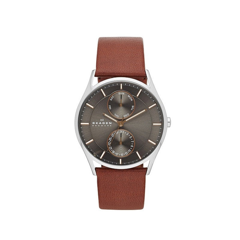 Skagen Men's Holst Refined Leather Watch