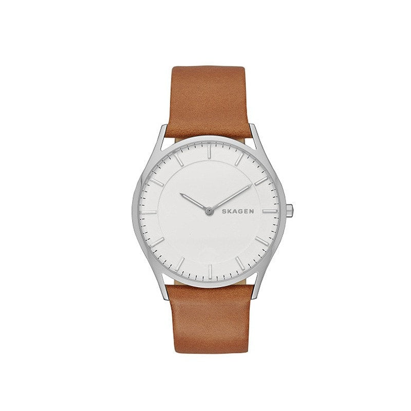 Skagen Men's Holst Stainless Steel / Leather Watch