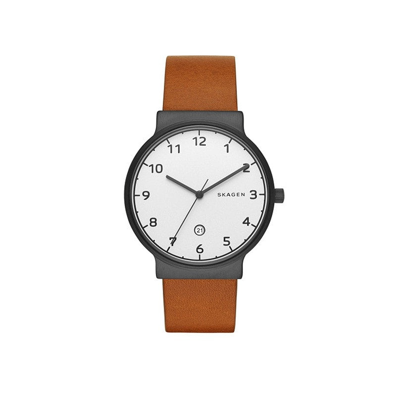 Skagen Men's Ancher Leather Watch