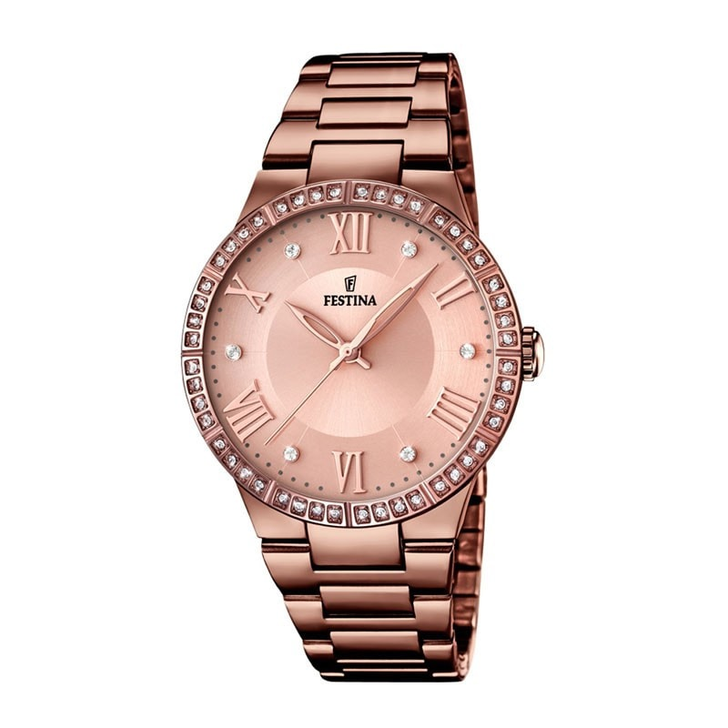 Festina Ladies Chocolate IP Plated Watch with Steel Strap [F16801/1]