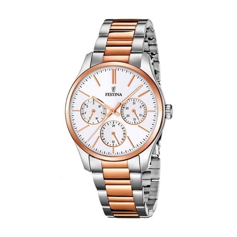 Festina Ladies Rose Bi-Colour Multifunction Watch with Steel