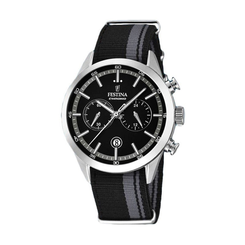 Festina Mens Chrono Watch with Nylon Strap [F16827/3]