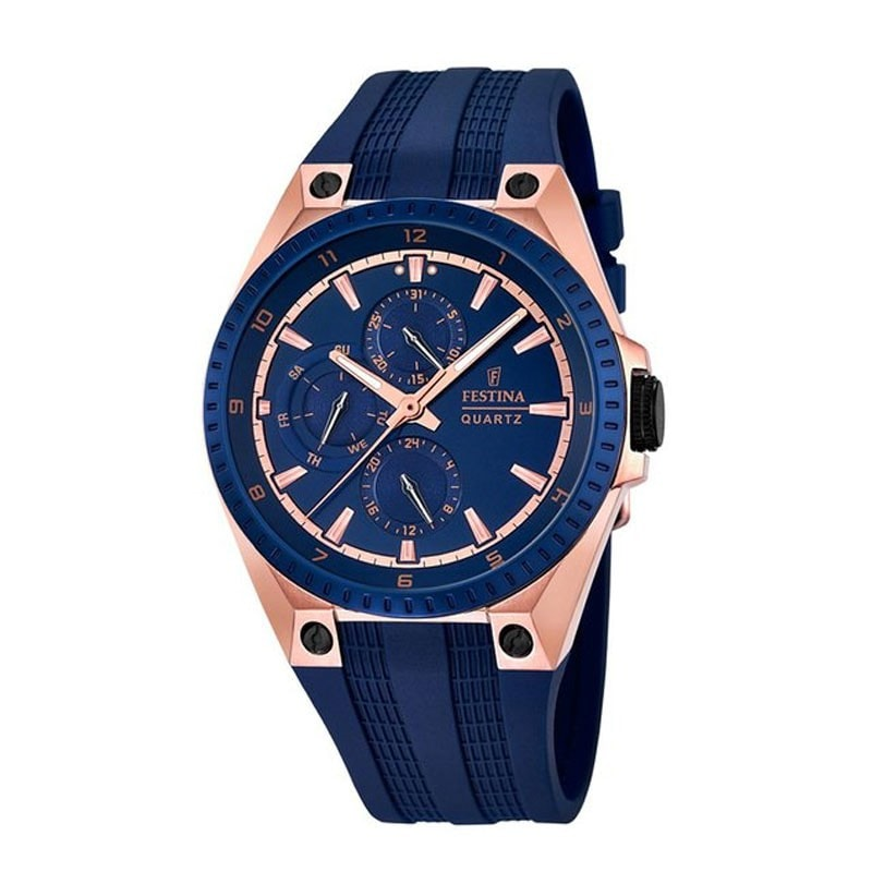 Festina Mens Rose Gold Plated Multi-Function Watch (F16835/2)