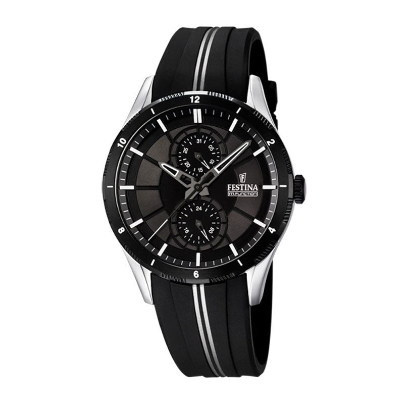 Festina Mens Multifunction Watch with Rubber Strap