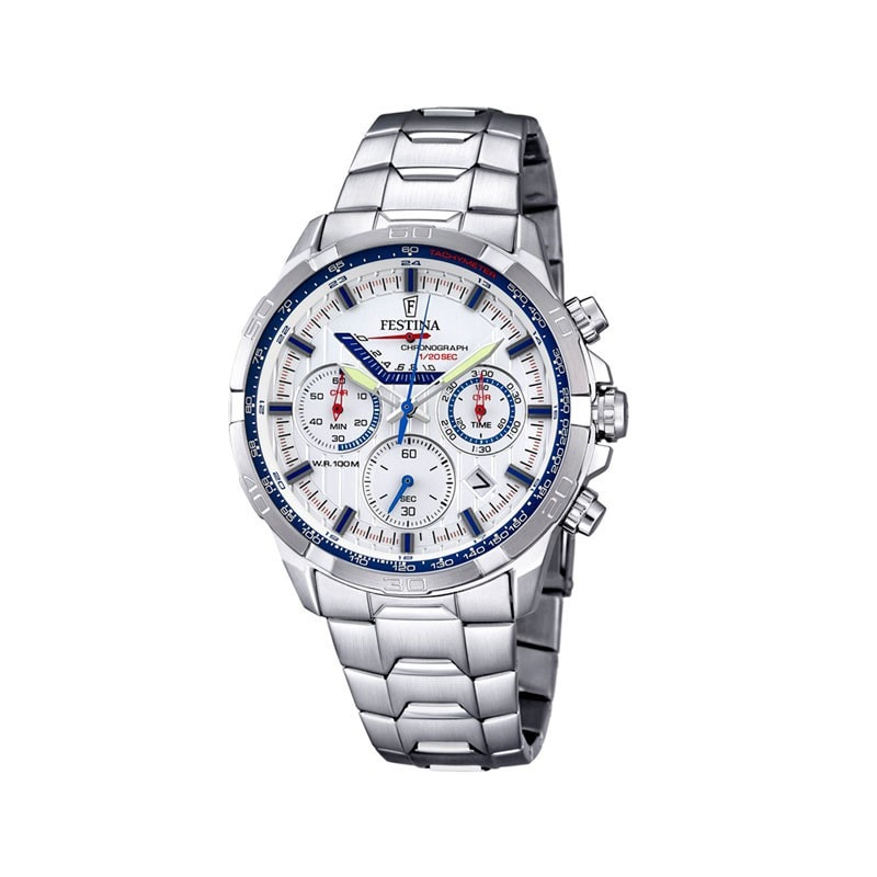 Festina Mens Chrono Watch with Steel Bracelet [F6836/2]