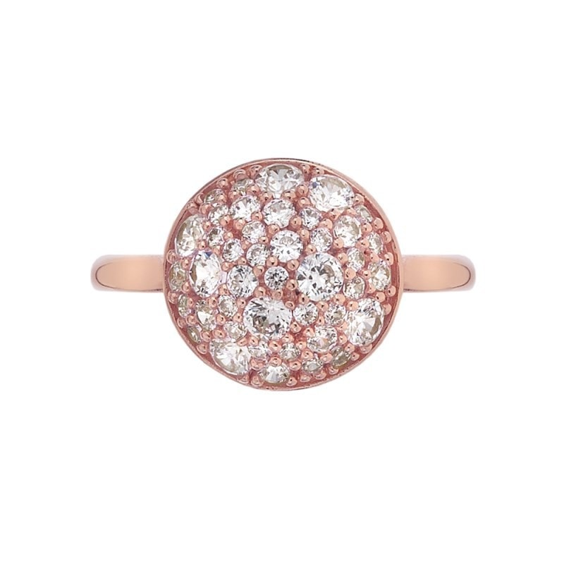 Emozioni Bouquet Rose Gold Plated Ring