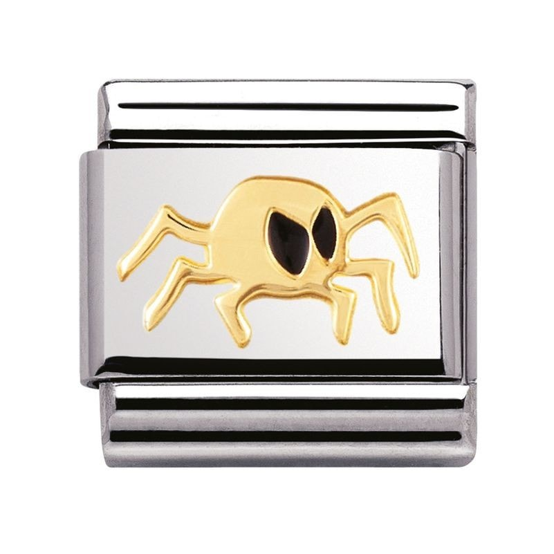 Nomination  Halloween With Enamel And 18ct Gold Spider  Charm 03021602