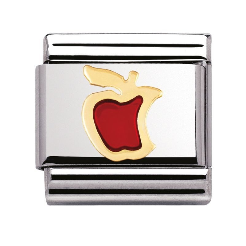 Nomination  Enamel And 18ct Gold Red Apple Charm 03021502