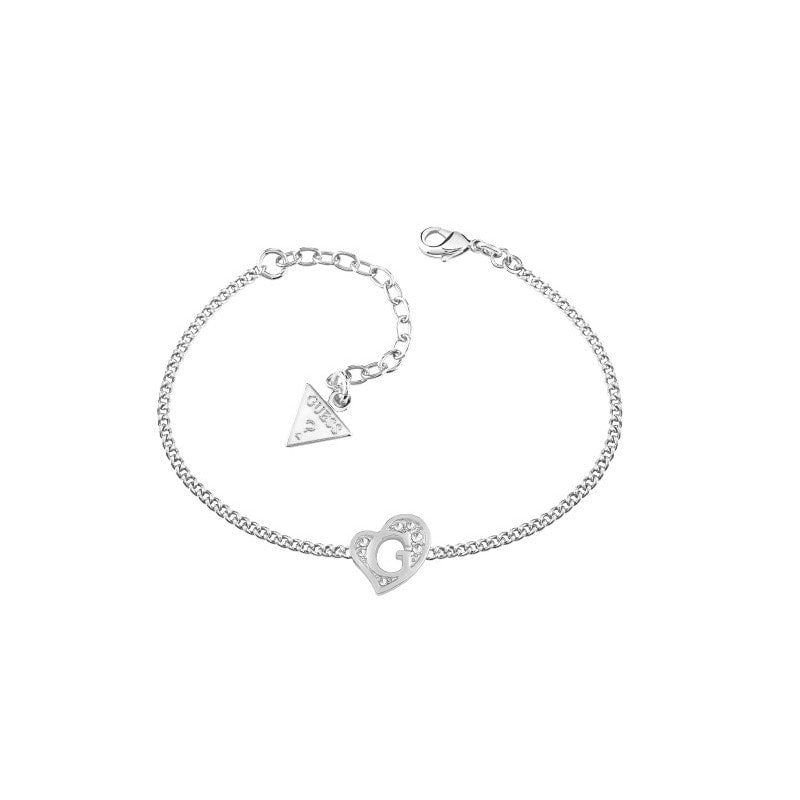 Guess Rhodium Plated G HeartS Bracelet