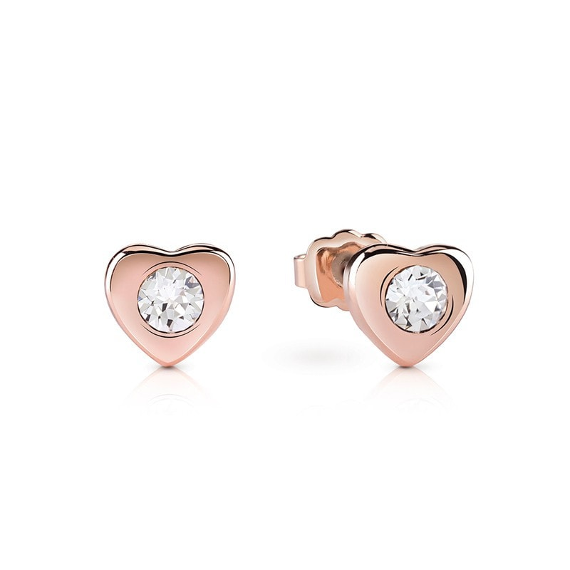 Guess Lovin Guess Earrings Rose Gold