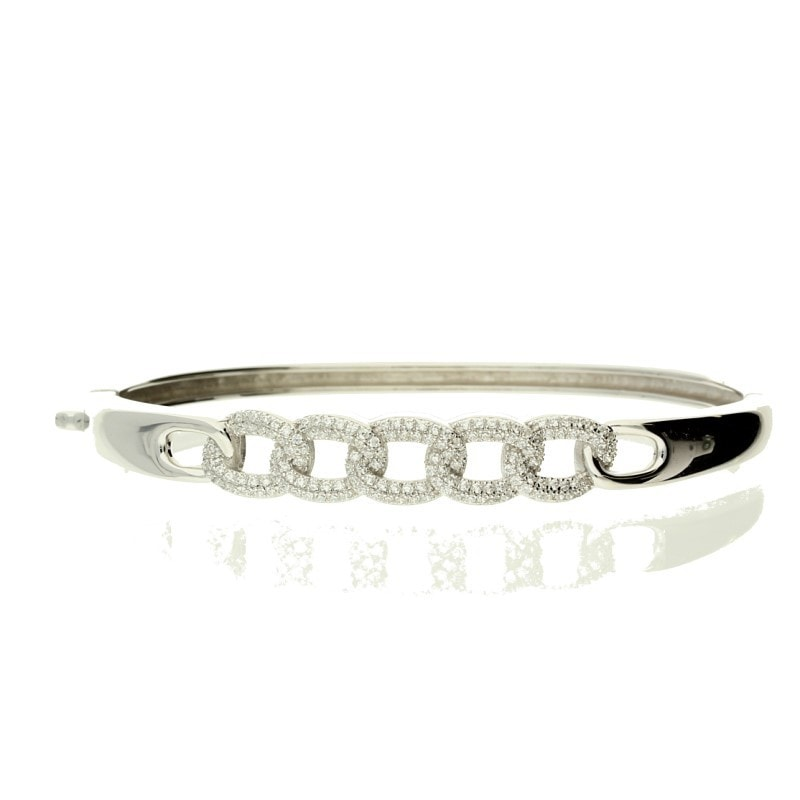 Zohara Chain Link Bangle In Silver