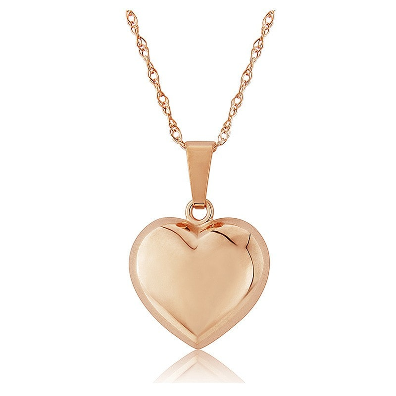 Mark Milton 9ct Rose Gold Small Puffed Heart Pendant Necklace