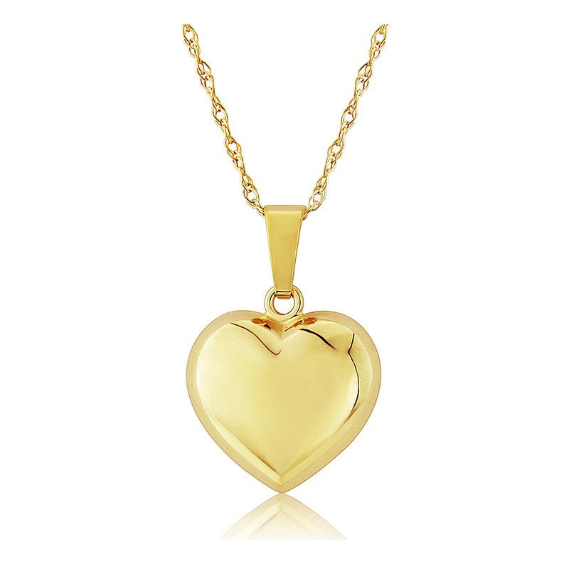 Mark Milton 9ct Yellow Gold Small Puffed Heart Pendant Necklace