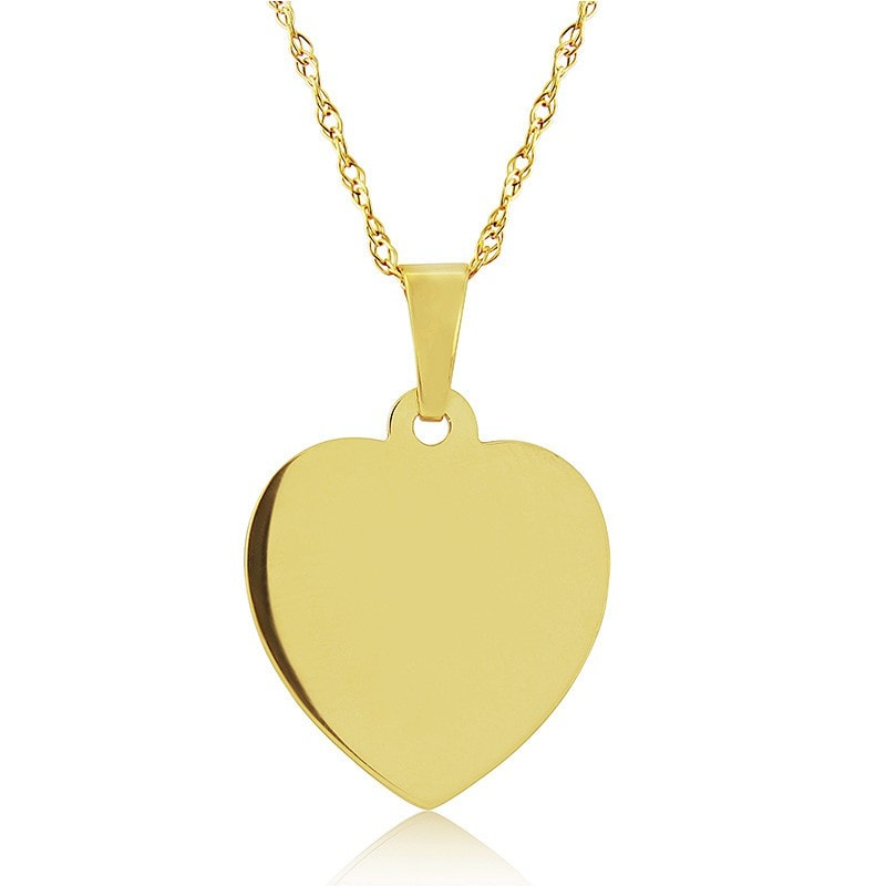 Mark Milton 9ct Yellow Gold Engraving Heart Pendant Necklace