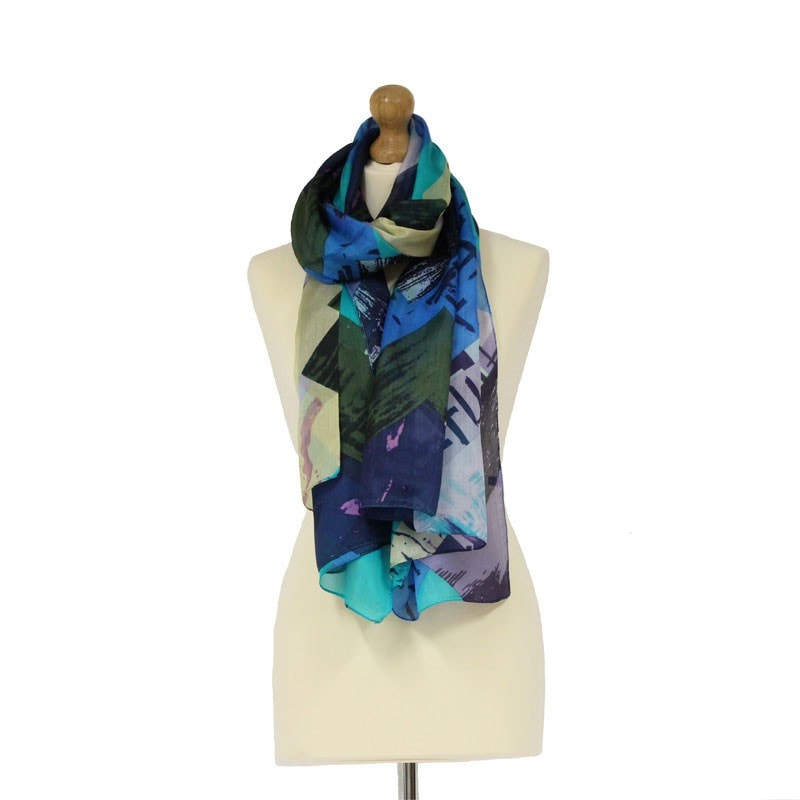 Tilley & Grace Turquoise Blue Silk Scarf