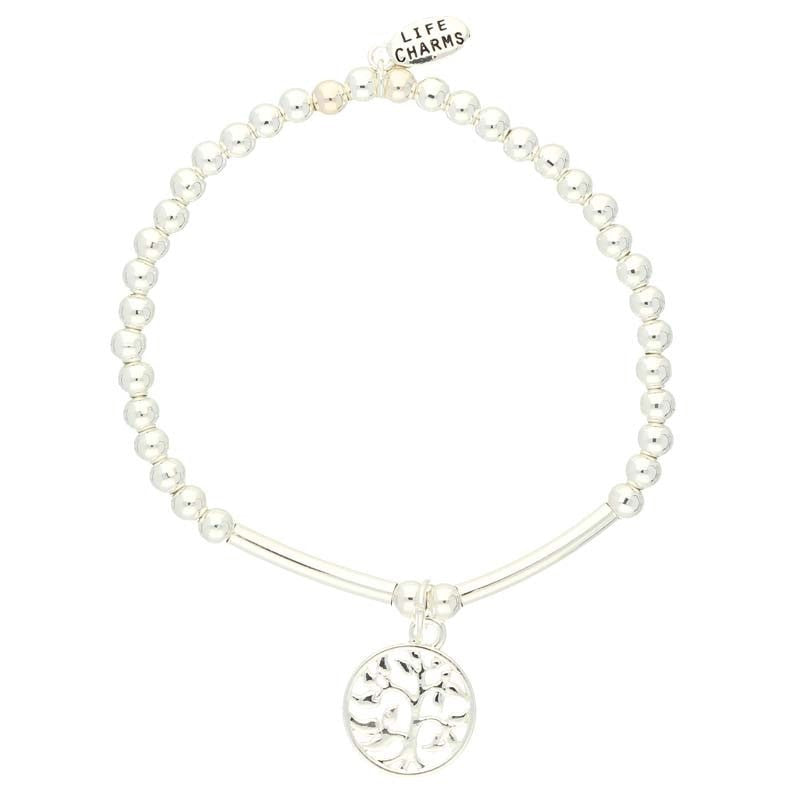 Life Charms Tree of Life Silver Charm Bracelet
