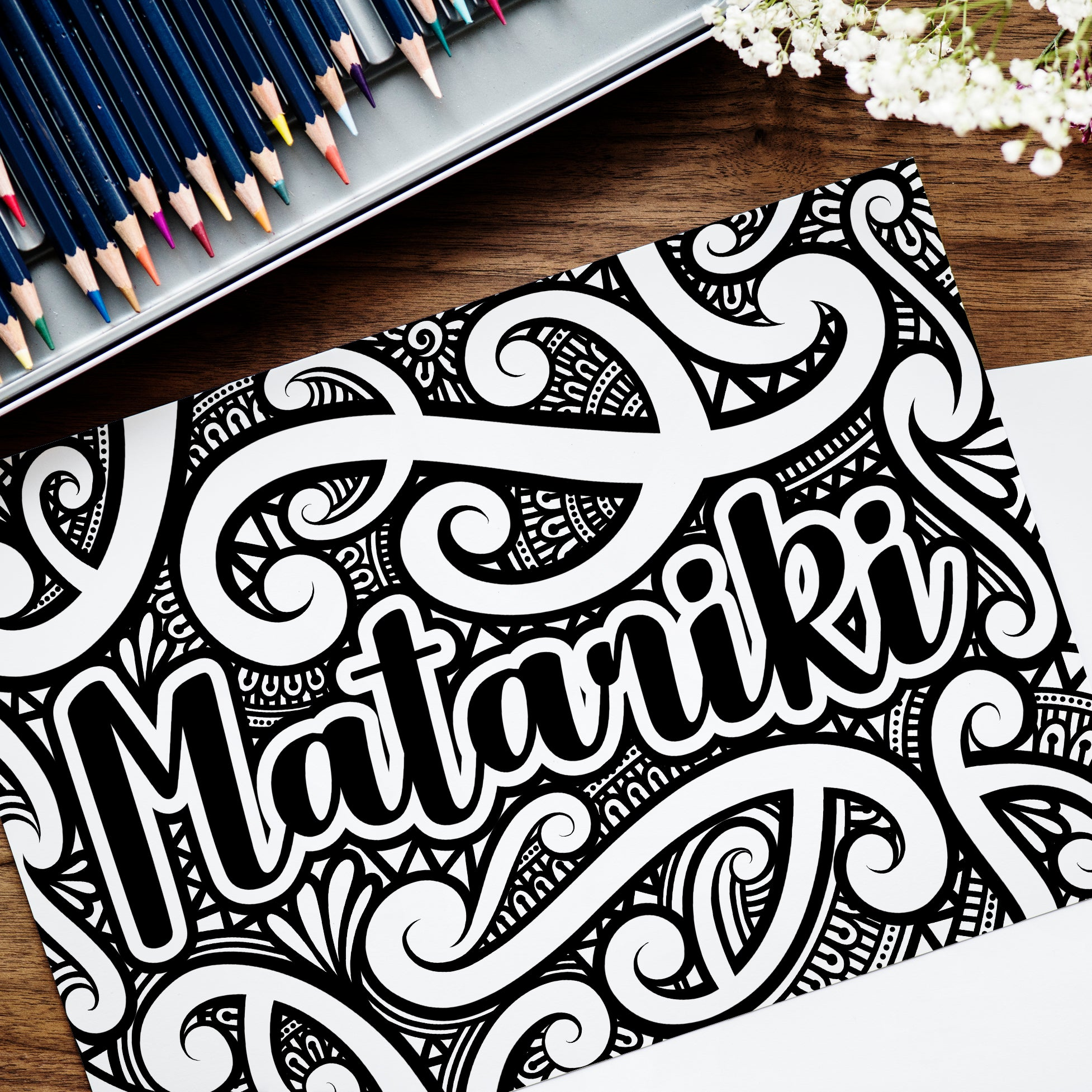 Matariki Colouring Sheet