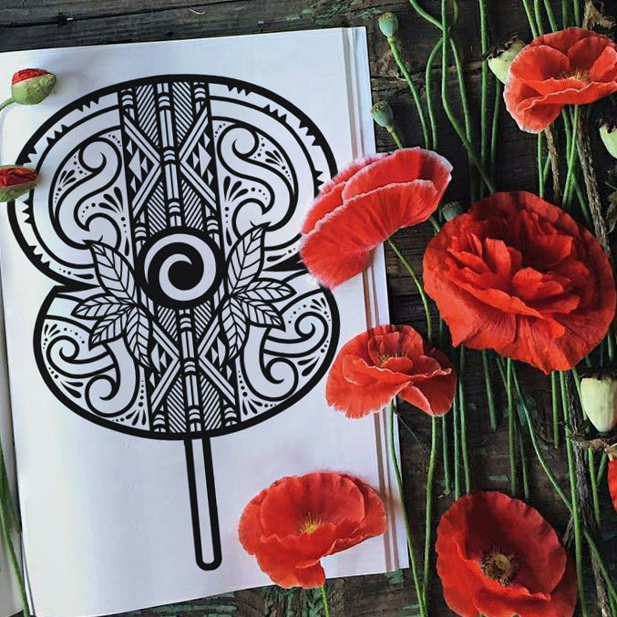 ANZAC Poppy Colouring Sheet