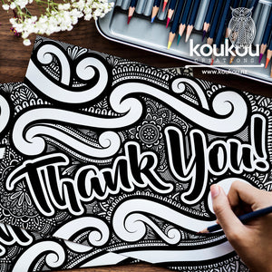 Thank You Colouring Sheet