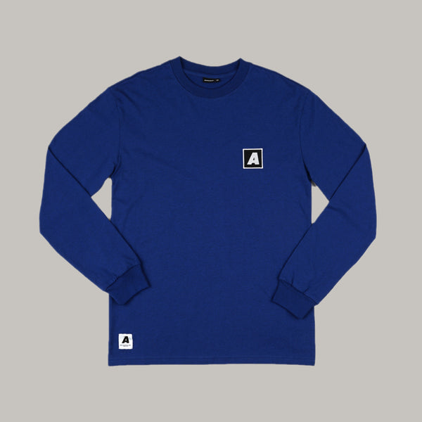 Appelsap 'Embroidered A' Longsleeve Blue