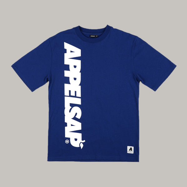 Appelsap 'Big Logo' Line-up T-shirt Blue