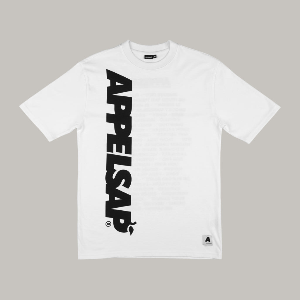 Appelsap 'Big Logo' Line-up T-shirt White