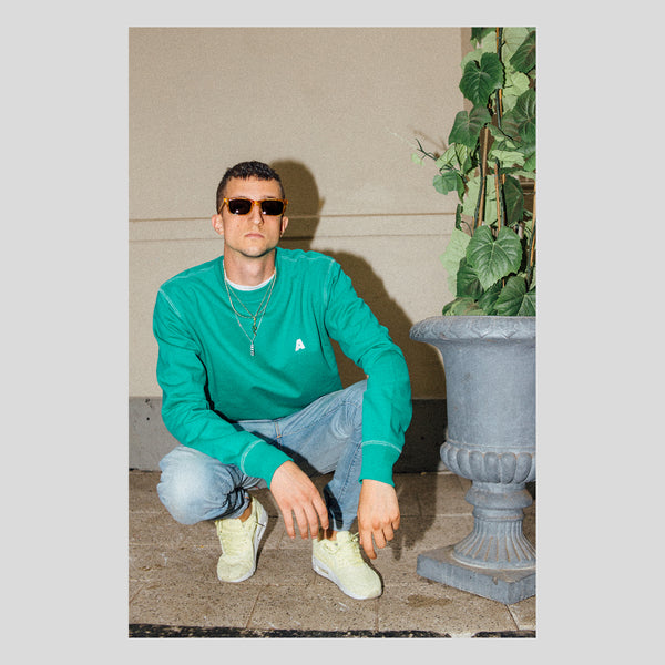 Appelsap Embroidered 'A' Crewneck Tropical Green