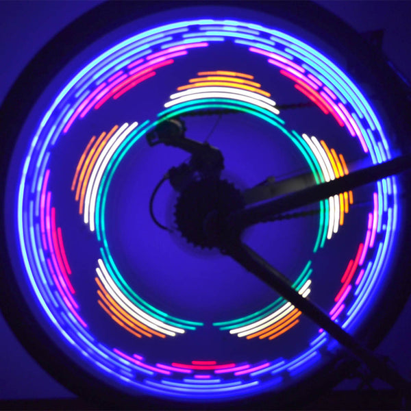 16 LED Bicycle Wheel Lights - 42 Patterns