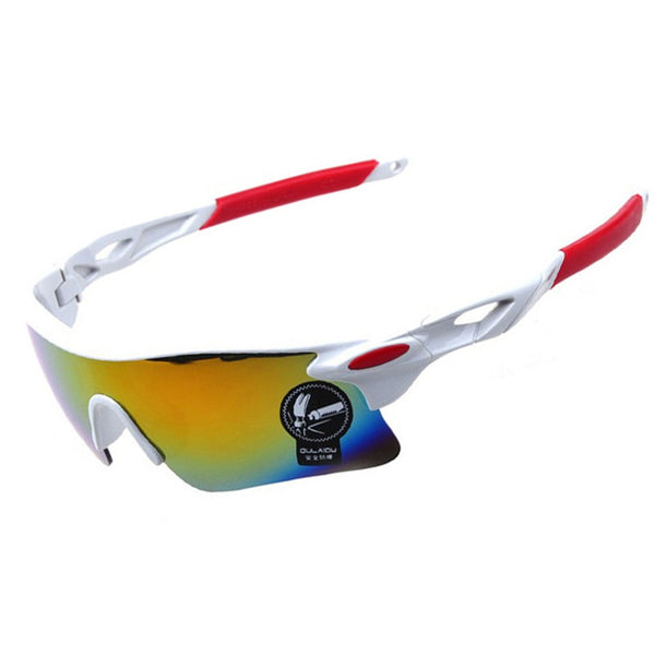 Cycling Sunglasses - White & Red UV400