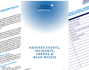 Accidents, Adverse Events, Incidents, Errors & Near Misses Template