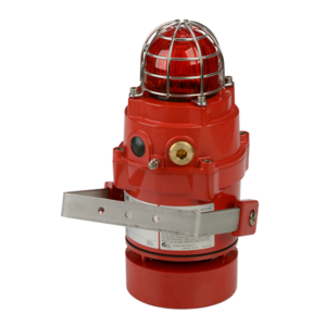 D1xC2X05R, D1xC2X10R  Explosion proof High Output Radial Alarm Horn & Xenon Strobe - 5&10 Joule - Red & Clear lens-GAS