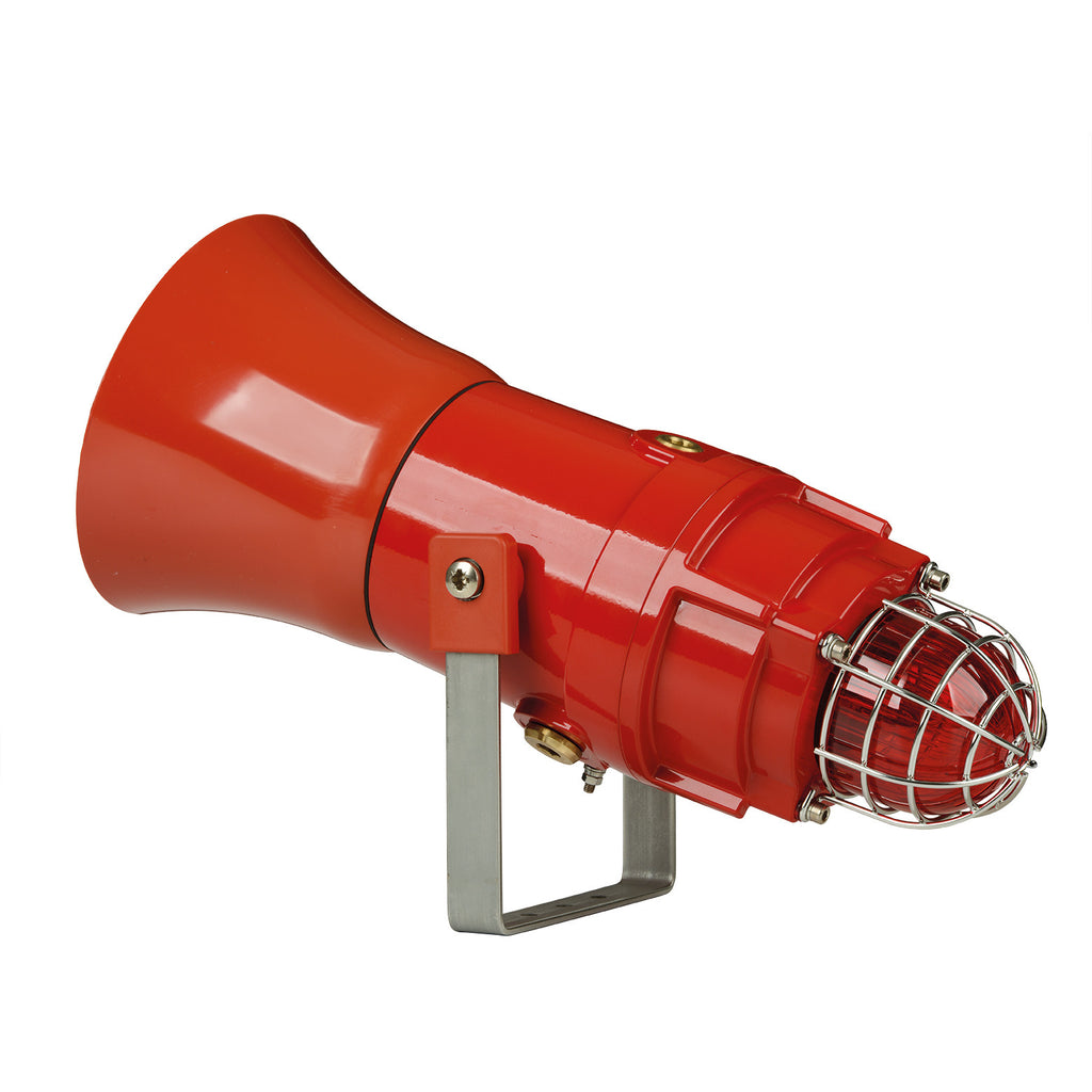 D1xC1X05F, D1xC1X10F  Explosion proof Flare Alarm Horn & Xenon Strobe - 5&10 Joule - Red & Clear lens-GAS