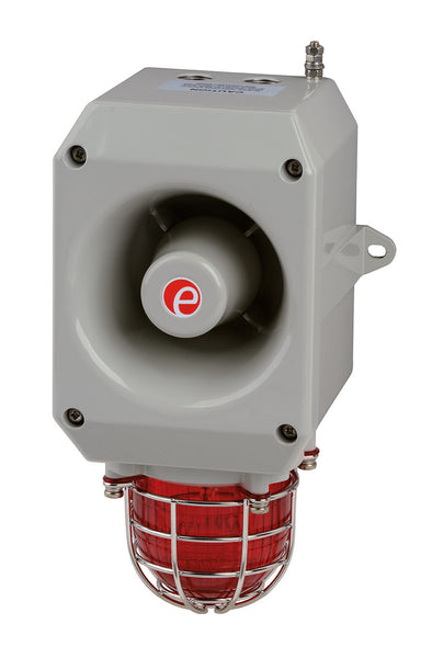 D2xC1 Alarm Horn Sounder/Strobe 5 & 10 joule 115VAC - Hazardous location Class 1 Div 2 - 64 tones available for 4 outputs