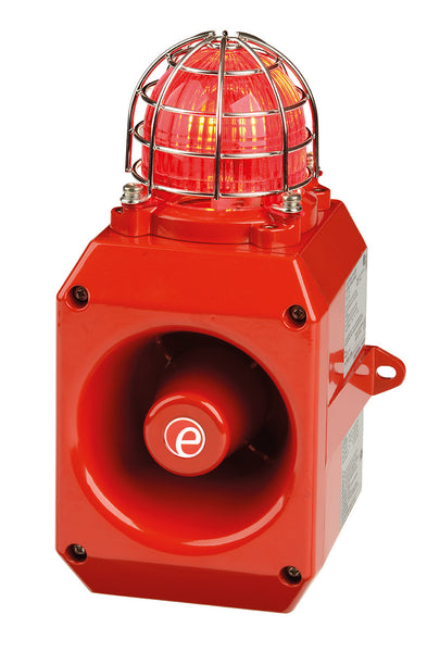 D2xC1 Alarm Horn Sounder/Strobe 5 & 10 joule 24VDC - Hazardous location Class 1 Div 2 - 64 tones available for 4 outputs