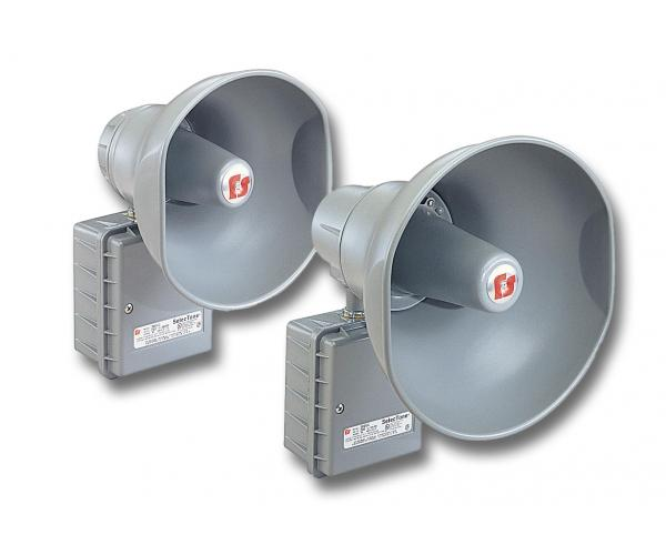 AM300 Speaker, 15 watts, transformer coupled  - AM302 Speaker, 30 watts, transformer coupled, UL, gray