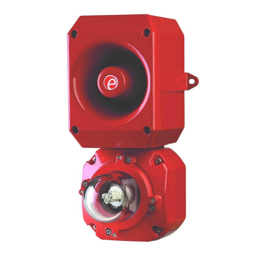 D2xC2LD2 Class I Div2 Combined LED Beacon 38.38cd UL 1971 with alarm horn sounder UL 464, 460ma surge current