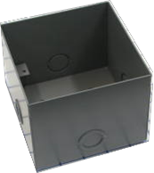 Deep wall box for flush mount, 50GC / 350 horn