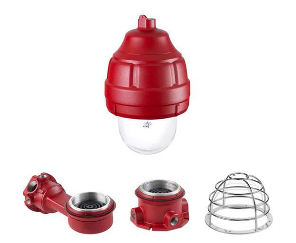 24XSTHI-024-MOD Explosion Proof, Low Current, Synchronized  Fire Alarm strobe light. 30cd  UL 1971 models  24VDC, 2A surge current