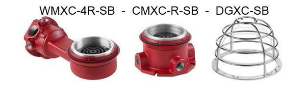 Model FSEX-24PM*-MOD Explosion Proof Synchronized  Fire Alarm system strobe light.  UL1638 models  24VDC