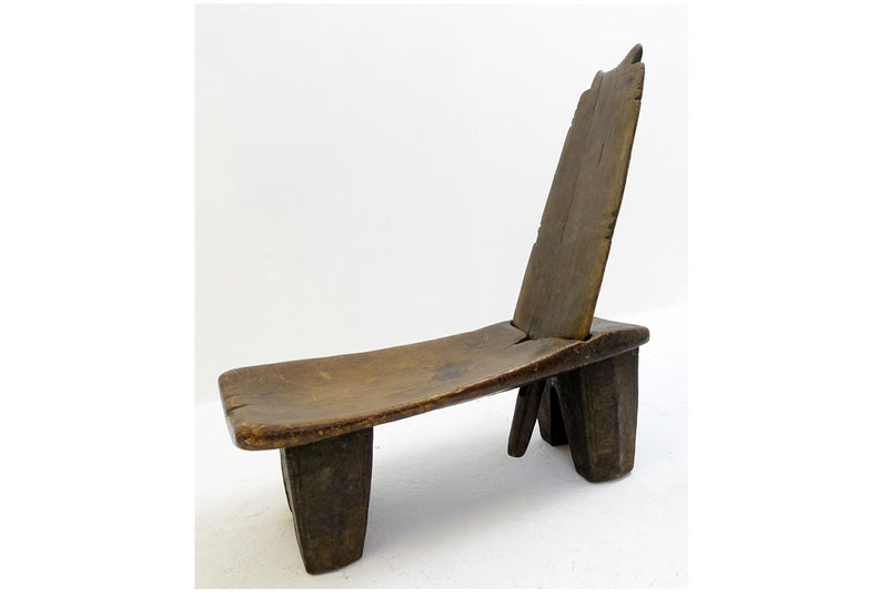 Ethiopian Reclining wooden chair