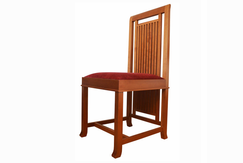 Frank Lloyd Wright 8 Coonley 2 Chair in solid natural cherrywood made by Cassina in 1992