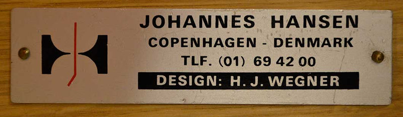Bondestander's Bank office desk by hans j wegner manufactured by johannes hansen, Denmark 1950's