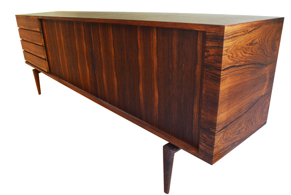 H.W. Klein Low Sideboard for Bramin Mobelfabrik in rosewood, Denmark early 1960's
