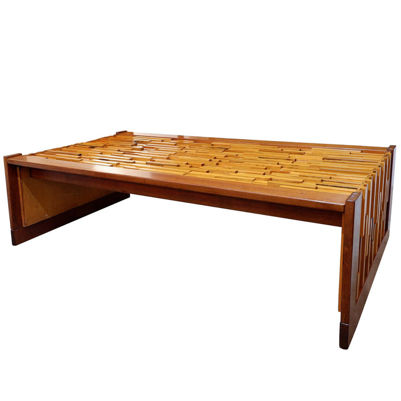 Percival Lafer coffee table in jacaranda machaerium villosum Brazil 1960's