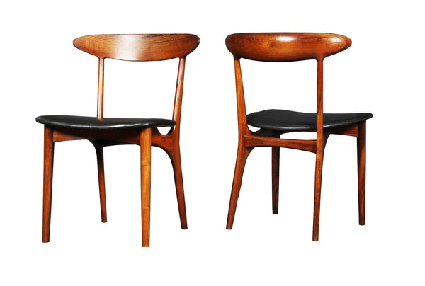 Kurt Ostervig 6 Dining Chairs in Brazilian Rosewood Denmark 1955