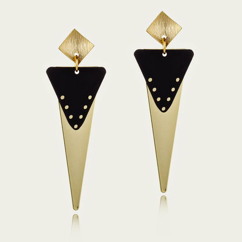 70's Triangle Drop Earrings - EGS3013