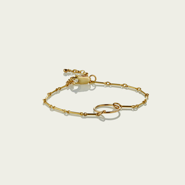 Precious Metal - 14kt Gold-Fill Ring Bracelet
