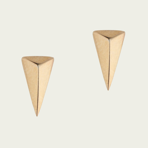 9ct Gold Triangle Studs